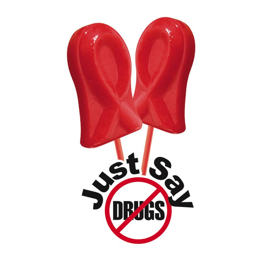 Red Ribbon Lollipops