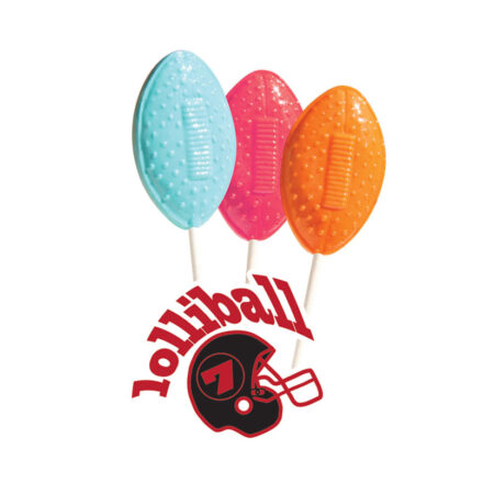 Football Shaped Lollipops
