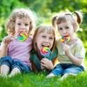 kids enjoying lollipops