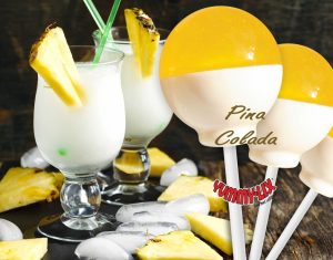 Tiramisu Flavored lollipops, Pina Colada Flavored Lollipops, Margarita Flavored lollipops