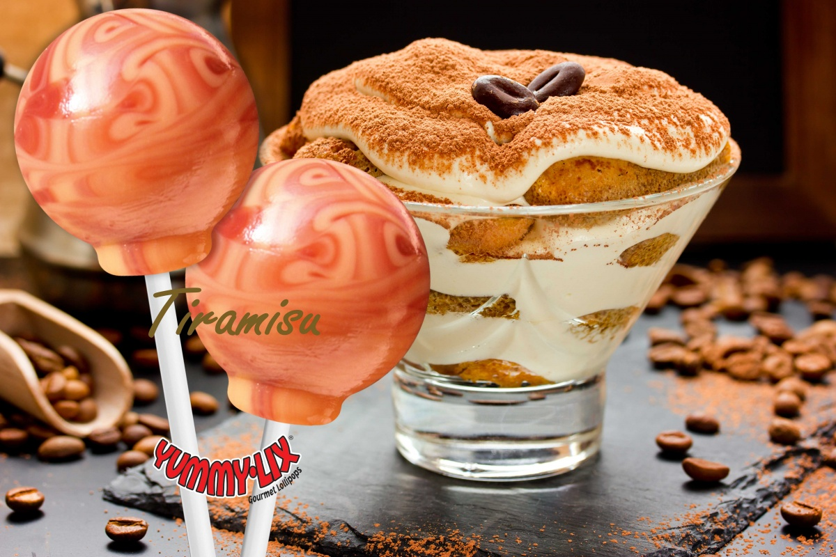 Tiramisu Flavored lollipops, Pina Colada Flavored Lollipops, Margarita Flavored lollipops